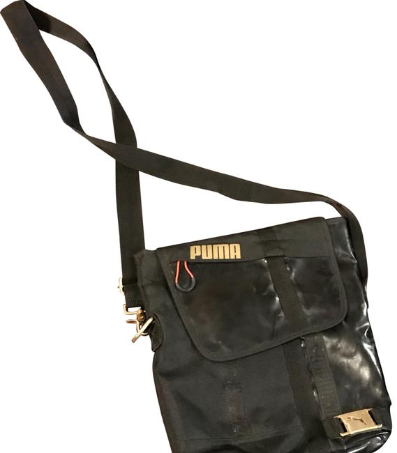 Item - Black Canvas Cross Body Bag