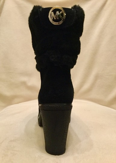 Michael Kors Genuine Leather Suede Sheep Shearling Black Boots Image 2