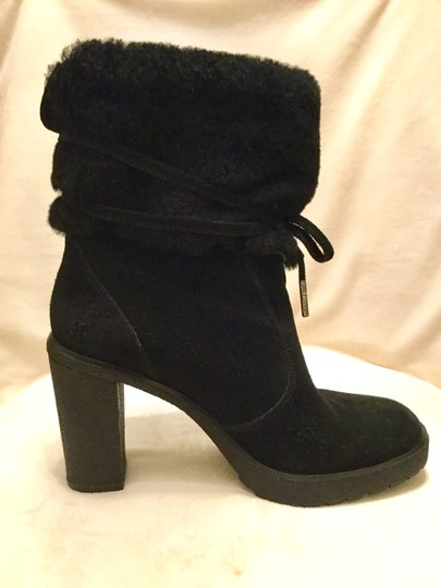 Michael Kors Genuine Leather Suede Sheep Shearling Black Boots Image 3