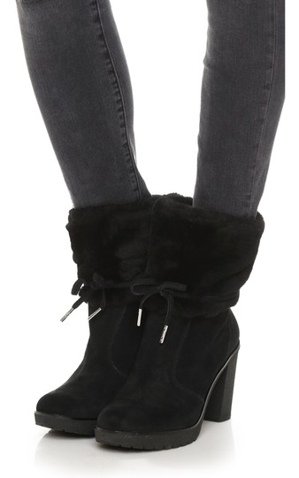 Michael Kors Genuine Leather Suede Sheep Shearling Black Boots Image 9