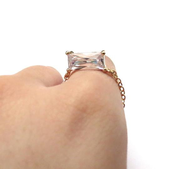 Elliot Francis Gold Plated 3d Prism Ring Image 1