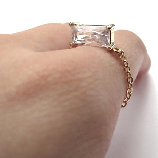 Elliot Francis Gold Plated 3d Prism Ring Image 2
