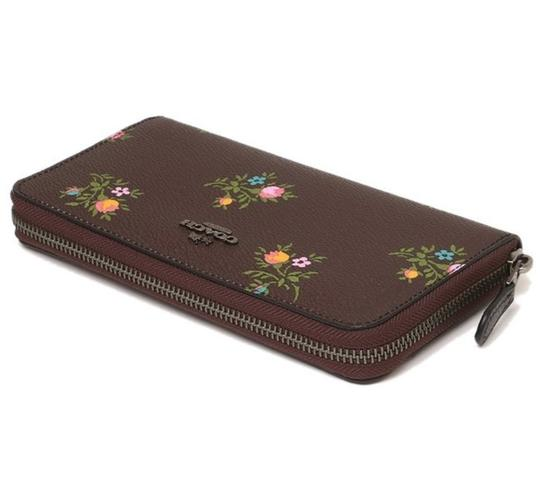 Coach Coach Accordion Zip Wallet With Cross Stitch Floral Print 22877 Image 1