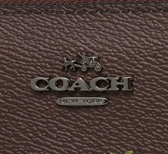 Coach Coach Accordion Zip Wallet With Cross Stitch Floral Print 22877 Image 5