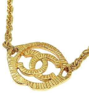 Chanel Vintage Gold Plated CC Choker