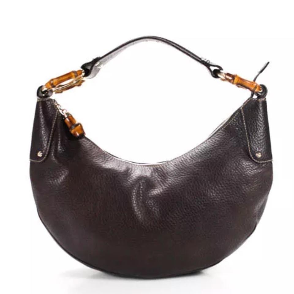 Gucci Gold Bamboo Brown Leather Hobo Bag - Tradesy be6f35a069463