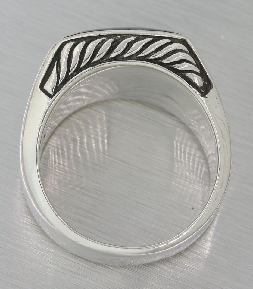 product gallery in jewelry normal david ring pietersite yurman stone large silverblue rings with band silver exotic lyst