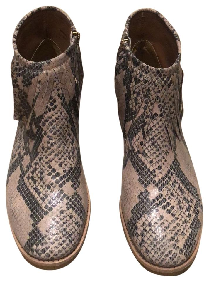 b5dc7ef0445f Kate Spade Snake Print Betsie Too Fringed Ankle Boots Booties Size ...