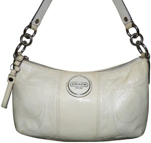 Coach Leather White Patent Leather Shoulder Bag