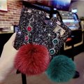 Other Luxury Glitter powder Fox Fur Ball Bling Bling Image 1