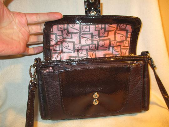 Stone Mountain Accessories Leather Patent Cross Body Bag Image 4