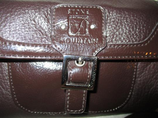 Stone Mountain Accessories Leather Patent Cross Body Bag Image 5