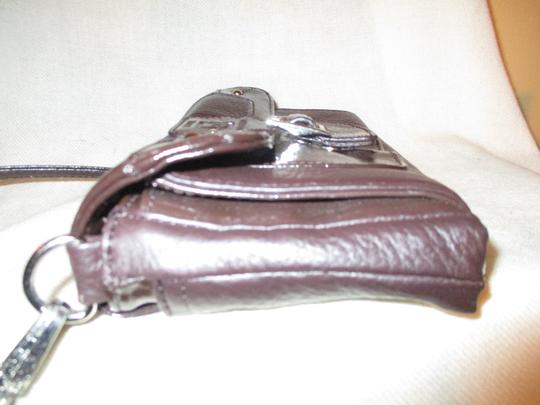 Stone Mountain Accessories Leather Patent Cross Body Bag Image 6