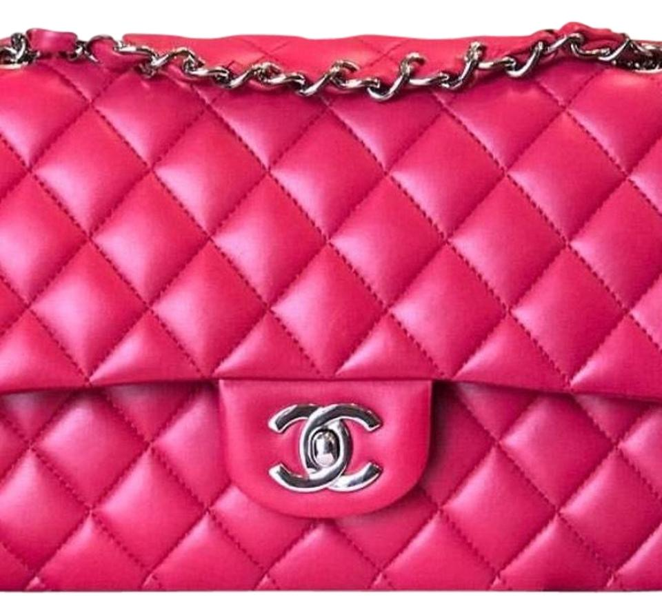 43d85ef104f Chanel Classic Flap Medium with Silver Hardware Pink Lambskin Leather  Shoulder Bag