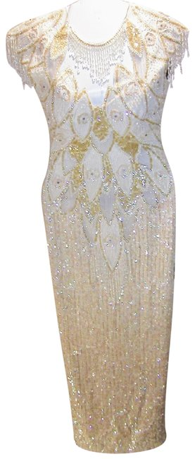 Preload https://img-static.tradesy.com/item/23166632/just-female-white-iridescent-embellished-peacock-open-front-and-back-long-formal-dress-size-8-m-0-18-650-650.jpg
