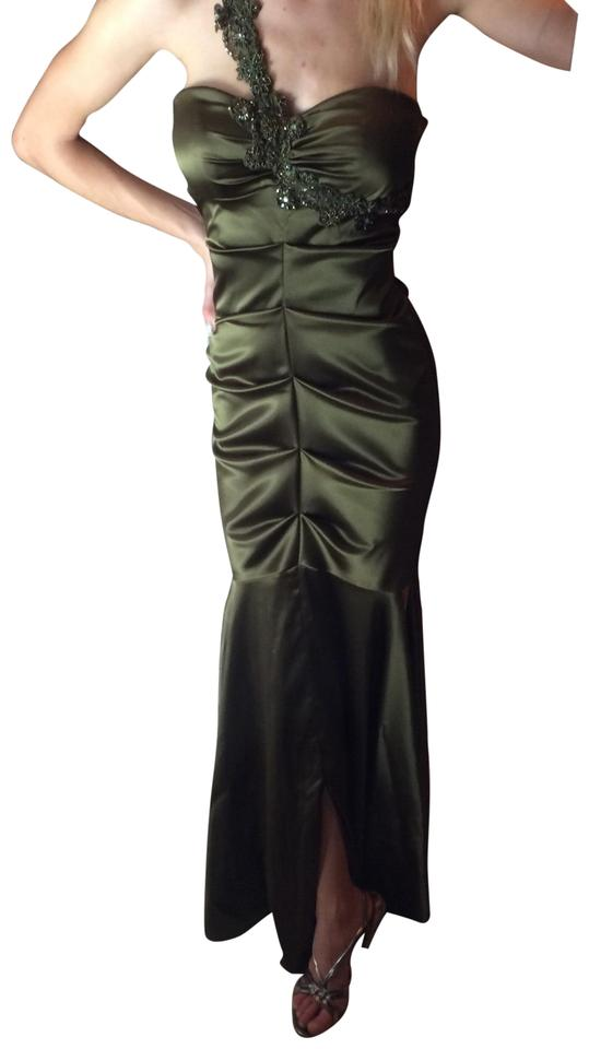 Xscape Olive Green Mermaid Prom Long Formal