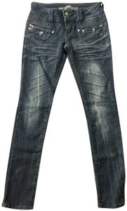 Almost Famous Clothing Skinny Jeans-Dark Rinse