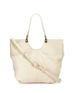 Elizabeth and James Tote Shopper Satchel in Cream