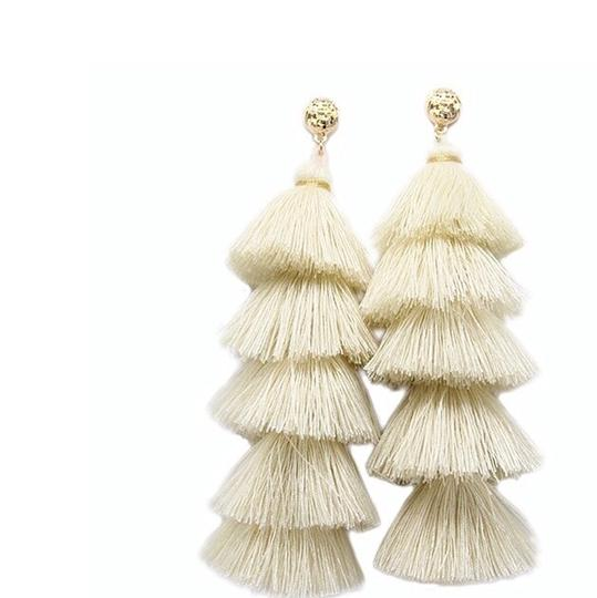 Preload https://img-static.tradesy.com/item/23166852/beige-long-tassel-statement-fringe-earrings-0-0-540-540.jpg