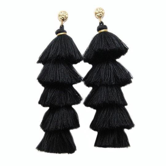Other Long Tassel Statement Fringe Earrings Image 1