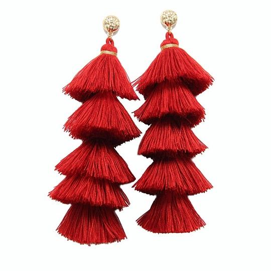 Other Long Tassel Statement Fringe Earrings Image 2