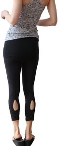 Lululemon Black Dance Se Skirted Wunder Under Activewear Leggings