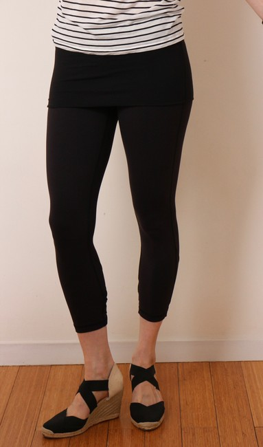 Lululemon Black Dance Se Skirted Wunder Under Activewear Leggings Image 1