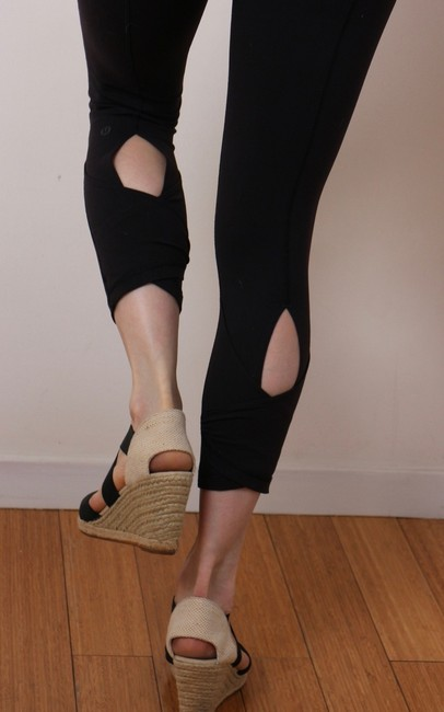 Lululemon Black Dance Se Skirted Wunder Under Activewear Leggings Image 2