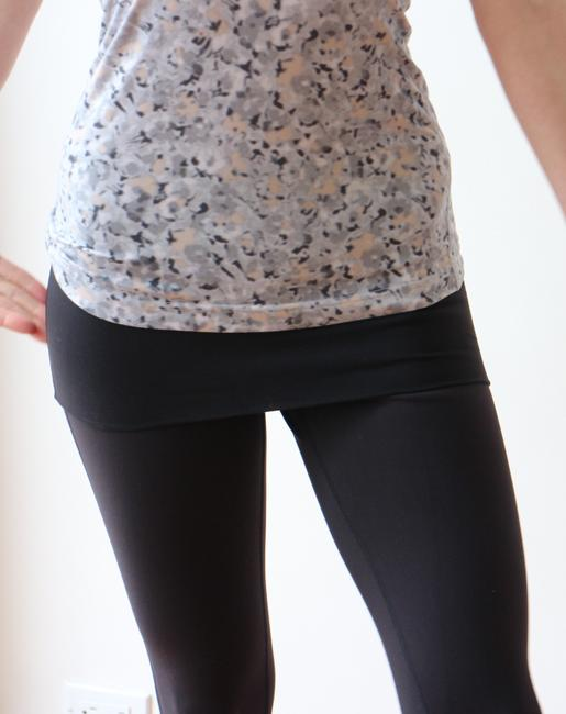 Lululemon Black Dance Se Skirted Wunder Under Activewear Leggings Image 5