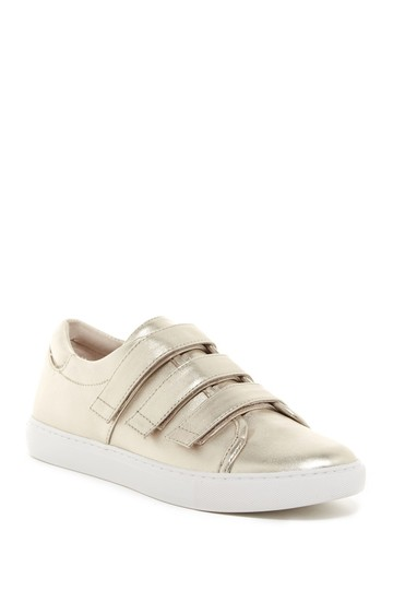 Kenneth Cole Sneaker Fashion Comfortable Straps Gold Athletic Image 0