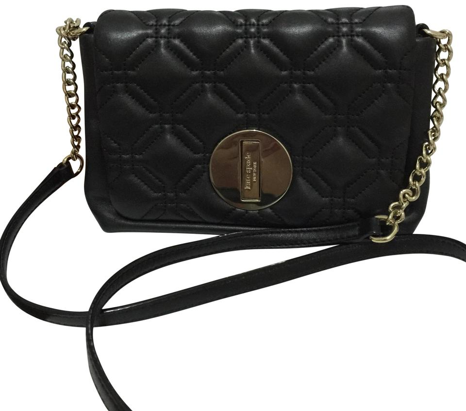 Kate Spade Astor Court Naomi Flap Quilted Black Leather Cross Body ... 79208aa9e00ca