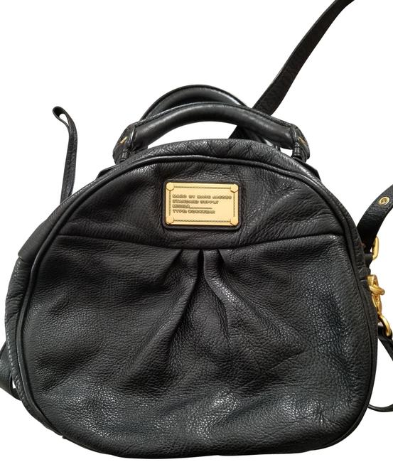 Marc by Marc Jacobs Classic Q Darci Satchel Black Leather Cross Body Bag Marc by Marc Jacobs Classic Q Darci Satchel Black Leather Cross Body Bag Image 1