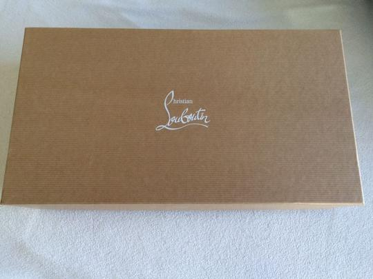 Christian Louboutin Signature Red Lining Blue Clutch Image 7