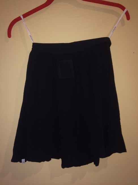 One Teaspoon Relaxed Mini Viscose Pockets Slouched Mini Skirt Black Image 2