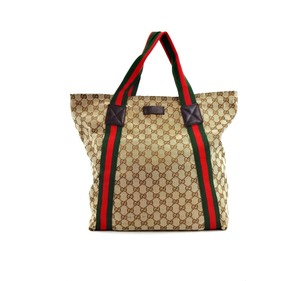 Gucci Shopper Duffle Gg Vintage Shoulder Bag