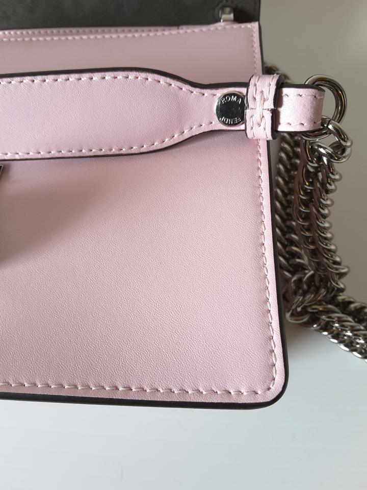 14f94eff99 Fendi Kan I Small Studded Logo Pearl Pink Leather Cross Body Bag ...