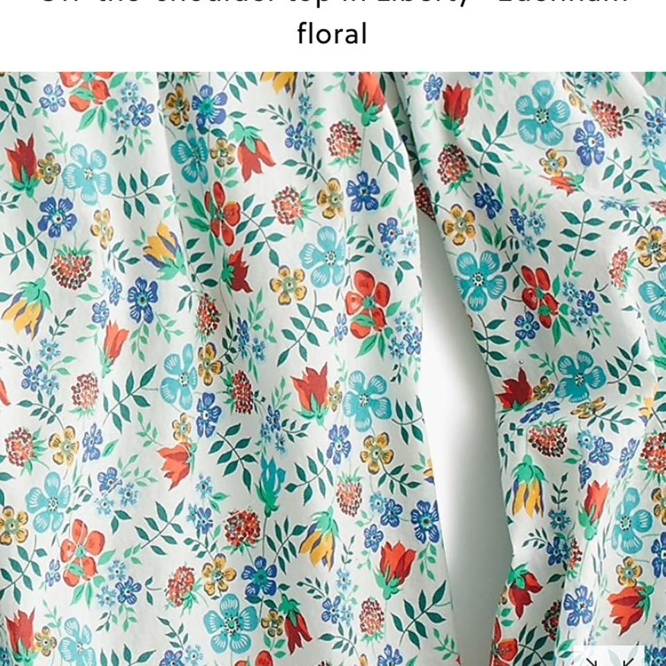629c7deaa7056 J.Crew White Multi Off-the-shoulder In Liberty Floral Blouse Size 2 ...