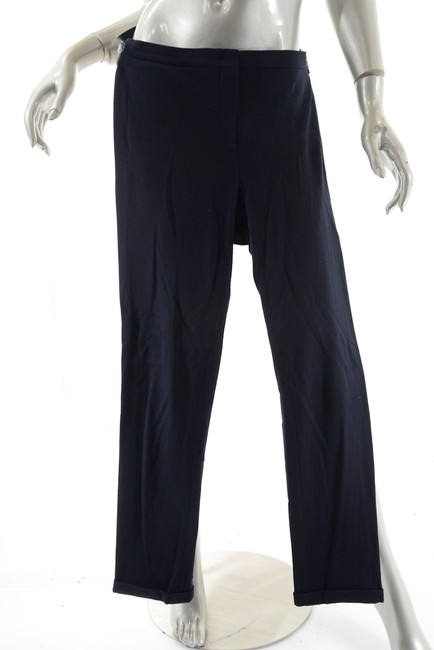 Jil Sander Clean Front Cuffs Straight Pants Navy Image 1
