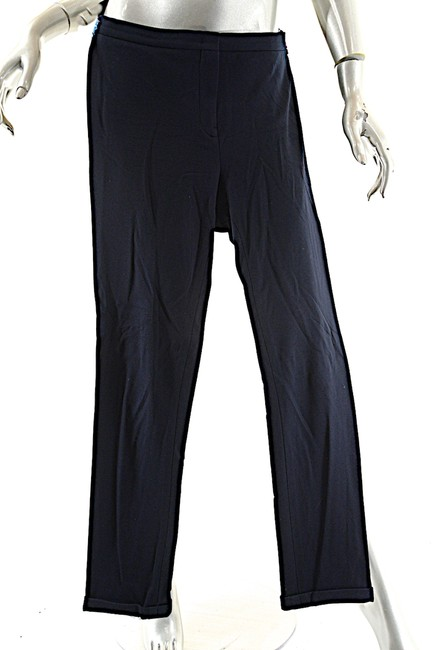 Jil Sander Clean Front Cuffs Straight Pants Navy Image 2