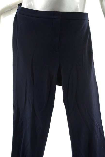 Jil Sander Clean Front Cuffs Straight Pants Navy Image 3