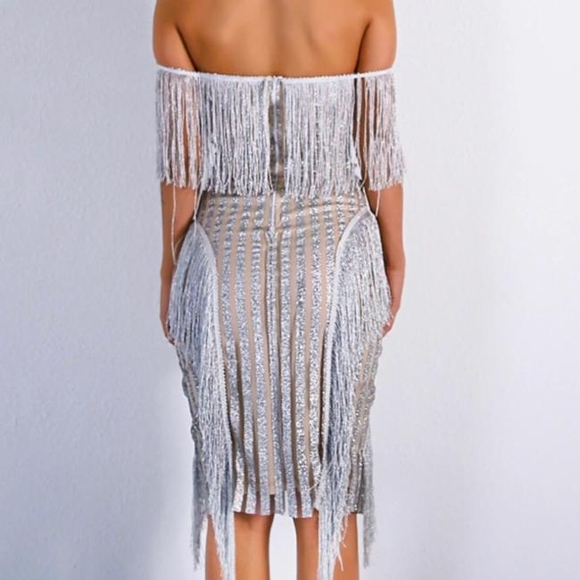 Glitter Tassel Sequin Dress Dress Image 3