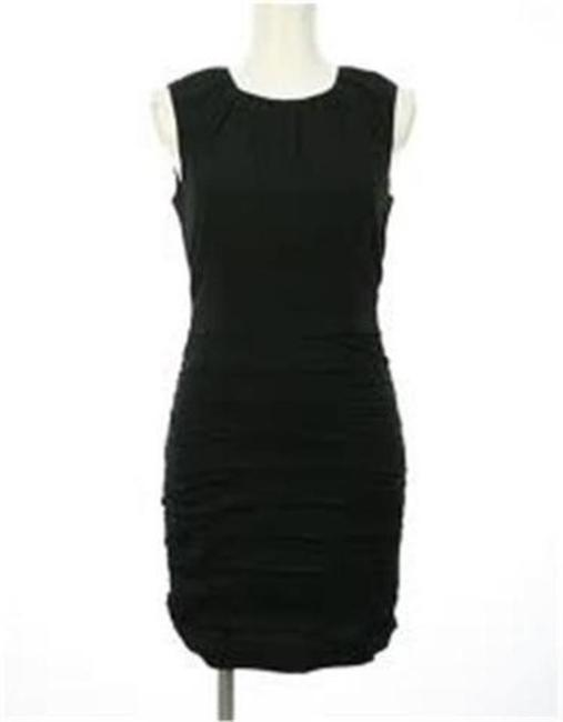 Diane von Furstenberg short dress Black Ruched Tulipan Dvf on Tradesy Image 4