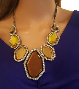 Joan Rivers Joan Rivers Statement Necklace Burnish Brass Gold Necklace