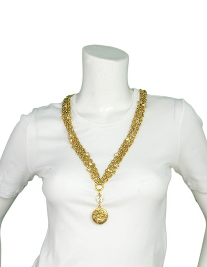 Chanel Chanel Vintage 80's Gold CC Pendant Multi-Strand Necklace Image 1