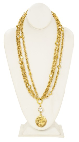 Chanel Chanel Vintage 80's Gold CC Pendant Multi-Strand Necklace Image 2