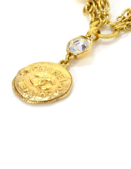 Chanel Chanel Vintage 80's Gold CC Pendant Multi-Strand Necklace Image 4