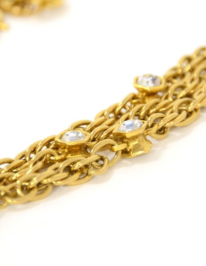 Chanel Chanel Vintage 80's Gold CC Pendant Multi-Strand Necklace Image 5