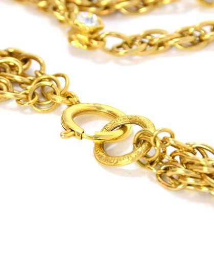 Chanel Chanel Vintage 80's Gold CC Pendant Multi-Strand Necklace Image 6