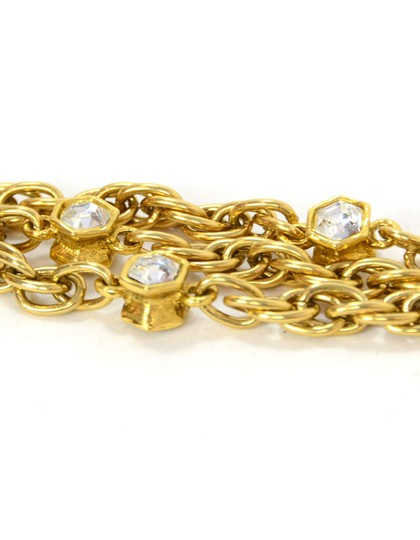 Chanel Chanel Vintage 80's Gold CC Pendant Multi-Strand Necklace Image 7