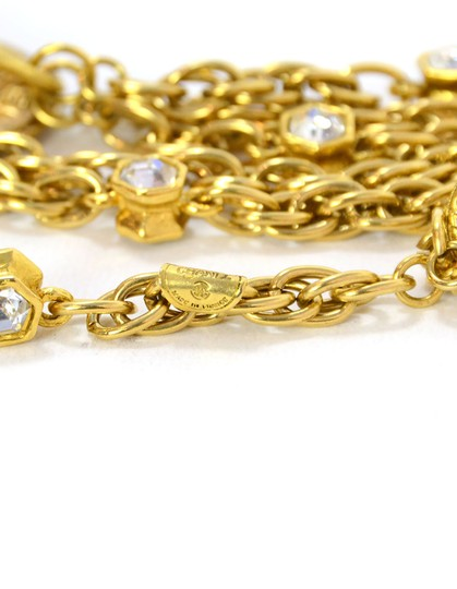 Chanel Chanel Vintage 80's Gold CC Pendant Multi-Strand Necklace Image 8